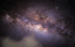 Предпосылка ночного неба галактики млечного пути стоковая фотография rf