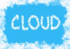 Предпосылка облака иллюстрация вектора
