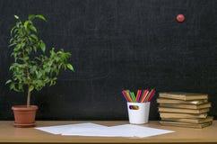 Предпосылка образования задняя школа принципиальной схемы к Стоковое Фото
