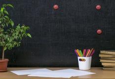 Предпосылка образования задняя школа принципиальной схемы к Стоковые Изображения