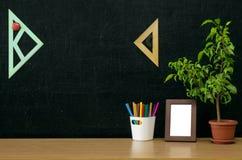 Предпосылка образования задняя школа принципиальной схемы к Стоковое фото RF