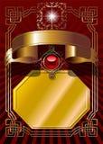 предпосылка обрамляет золотистое Стоковые Фотографии RF