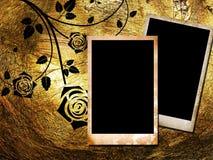предпосылка обрамляет золотистый сбор винограда фото 2 Стоковая Фотография