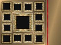 предпосылка обрамляет фото металла Стоковая Фотография RF