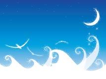Предпосылка океана звёздной ночи бесплатная иллюстрация