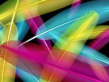предпосылка оперяется multicolor Стоковое Изображение RF