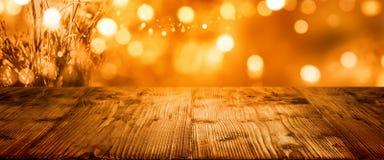 Предпосылка осени на благодарение с таблицей Стоковая Фотография RF