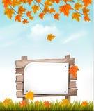 Предпосылка осени природы с красочные листья бесплатная иллюстрация