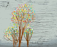 Предпосылка осени с текстурой художнической иллюстрация штока