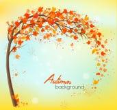 Предпосылка осени с цветастыми листьями бесплатная иллюстрация