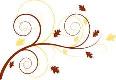 предпосылка осени флористическая Стоковая Фотография