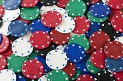 предпосылка откалывает покер Стоковая Фотография RF