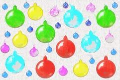 Предпосылка от вычерченных игрушек рождества Стоковые Фотографии RF
