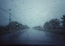 предпосылка падает вектор дождя Стоковые Фотографии RF