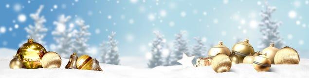 Предпосылка панорамы знамени рождества Стоковые Фото