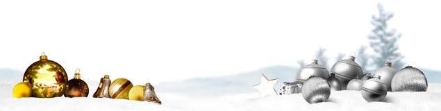 Предпосылка панорамы знамени рождества Стоковое фото RF
