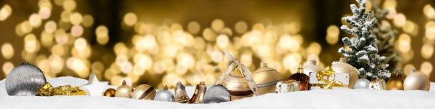 Предпосылка панорамы знамени рождества Стоковое Фото
