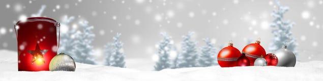 Предпосылка панорамы знамени рождества Стоковые Изображения RF