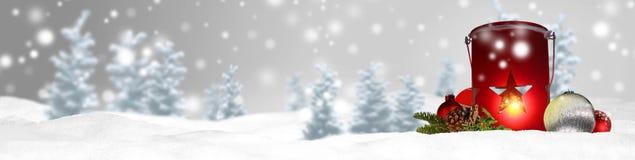 Предпосылка панорамы знамени рождества Стоковая Фотография