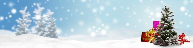 Предпосылка панорамы знамени рождества Стоковая Фотография RF