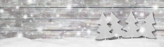 Предпосылка панорамы знамени рождества Стоковое Изображение RF