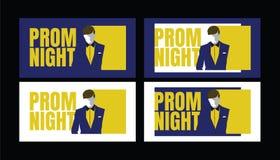 Предпосылка партии ночи выпускного вечера для плаката или рогульки, знамени дизайна вектора, карточки приглашения, иллюстрации иллюстрация вектора