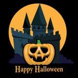 Предпосылка партии Halloween с тыквами Стоковое Изображение RF