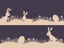 Предпосылка пасхи с зайчиками и яичками Дизайн для пасхи Vect иллюстрация вектора