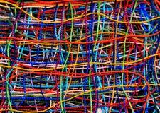Предпосылка переплетаннсяых много покрасила потоки Стоковое Изображение RF