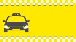 Предпосылка перехода и автомобиль таксомотора Стоковое фото RF