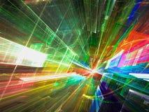 Предпосылка перспективы Sci fi - резюмируйте цифров произведенное ima Стоковые Фотографии RF