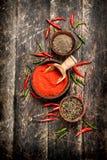 Предпосылка перца Разные виды перца chili Стоковые Фото
