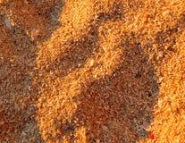 Предпосылка песка пляжа со светом захода солнца стоковое фото rf