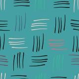 Предпосылка печати картины абстрактного teal нашивок watercolour безшовная иллюстрация вектора