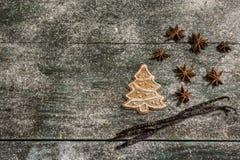Предпосылка печений пряника выпечки рождества Стоковые Фото