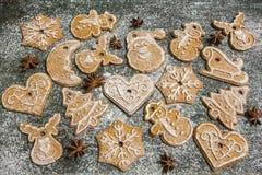 Предпосылка печений пряника выпечки рождества Стоковое Фото