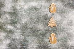 Предпосылка печений пряника выпечки рождества Стоковые Изображения RF