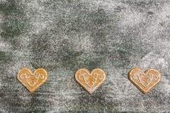 Предпосылка печений пряника выпечки рождества Стоковое фото RF