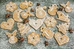Предпосылка печений пряника выпечки рождества Стоковые Фотографии RF
