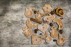 Предпосылка печений пряника выпечки рождества Стоковое Изображение RF