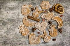 Предпосылка печений пряника выпечки рождества Стоковая Фотография RF