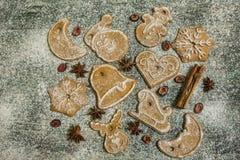 Предпосылка печений пряника выпечки рождества Стоковое Изображение