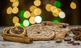 Предпосылка печений пряника выпечки рождества Стоковая Фотография