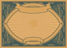 Предпосылка плаката Grunge горизонтальная Стоковое фото RF