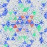 Предпосылка плитки мозаики треугольника Стоковая Фотография