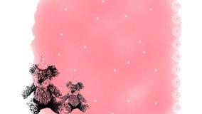 Предпосылка плюшевых медвежоат дня рождения Стоковое Изображение RF