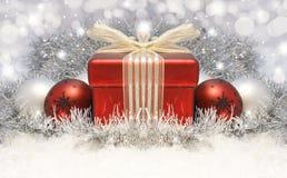 Предпосылка подарка рождества стоковые фотографии rf