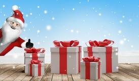 Предпосылка подарков на рождество 3d-illustration бесплатная иллюстрация