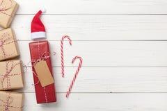 Предпосылка подарочных коробок рождества Стоковое Изображение