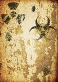 предпосылка подписывает поверхностное предупреждение сбора винограда текстуры Стоковые Изображения